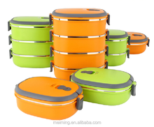 multi layer plastic and stainless steel tiffin box / bento lunch box / food warmer container