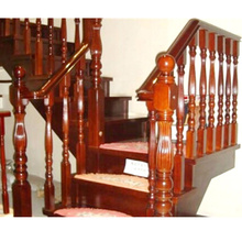 high quality factory sale indoor decorative wood stair hand rail
