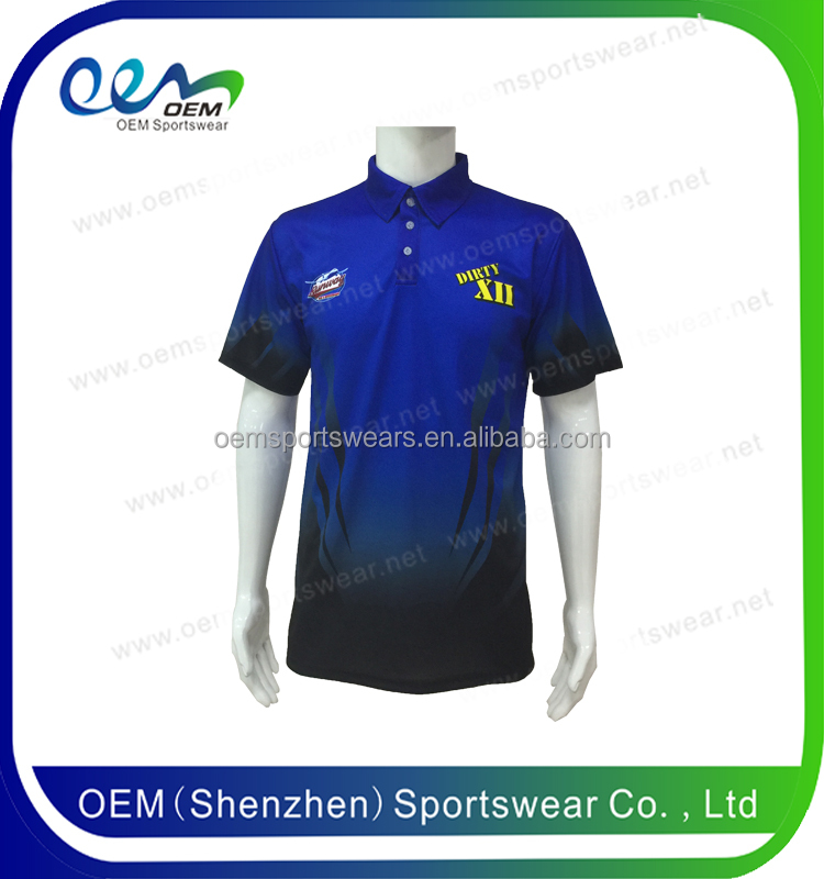 Color combination 100 polyester polo shirts wholesale