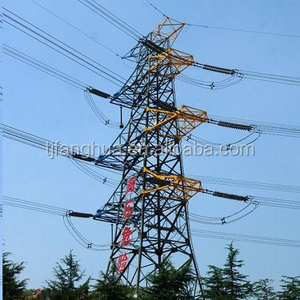 Galvanized High Voltage 400KV Transmission Line Electric Power Towers
