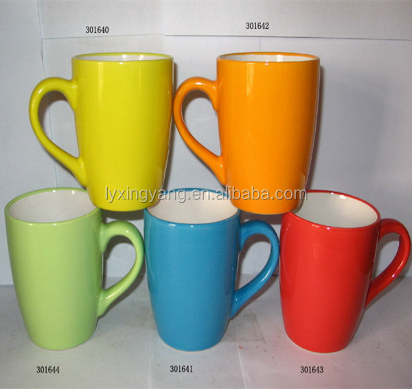 promotional items for 2016 hot selling cheap and high qualinty coated ceramic bright glazed mugs