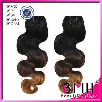 Wholesale cheap 100% brazilian virgin ombre hair extensions in stock