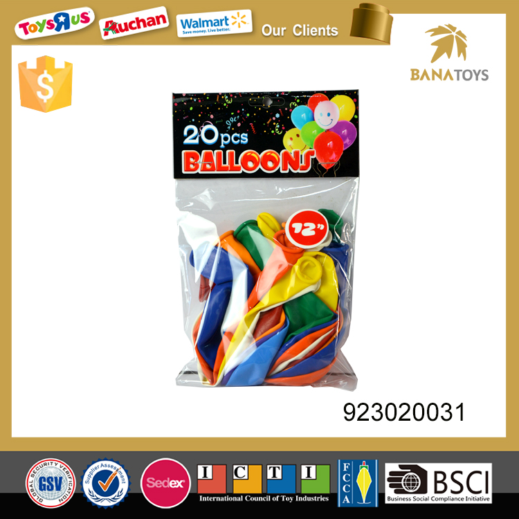 Colorful inflatable toys water rubber balloon