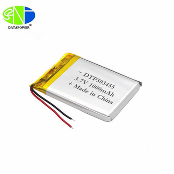 customize rechargeable battery 503455 3.7V 1000mAh li-polymer battery