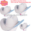 Manufacture white wool Mexican cowboy hat