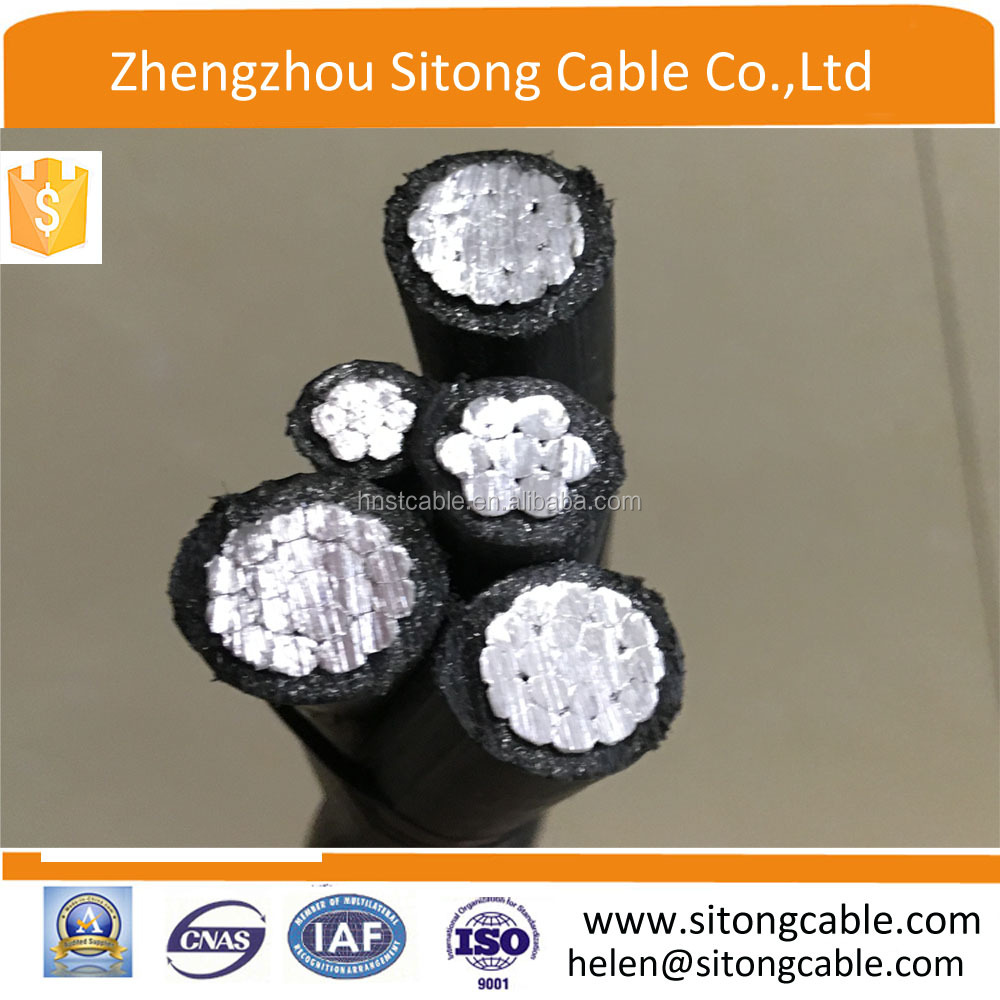 0.6/1Kv Aerial Bundled Service Drop wire / ABC cable 3*50+25+16 for Peru market