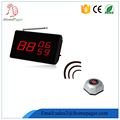 Casual fine dining electronic table buzzer system small display strong signal call button