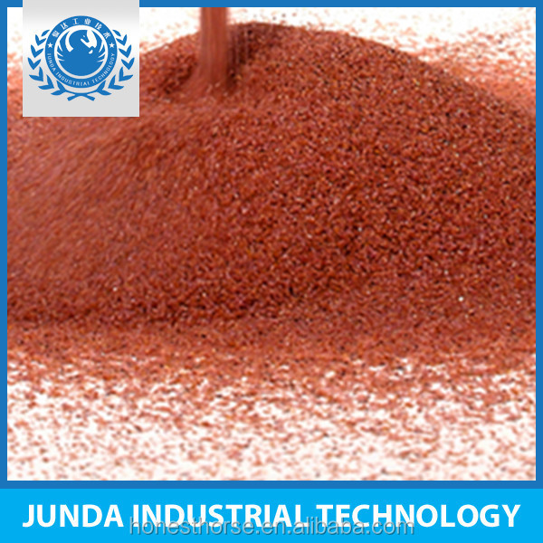 replace silica sand filtration media rough red garnet sand 20 40 applied in oil drilling mud weighting agent