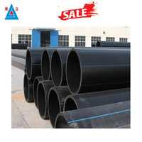 higher flow capacity easy installation plastic drainage pipe large size pe pipe