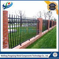 Strong resistance powder coating picket fencing for garden use hot sale