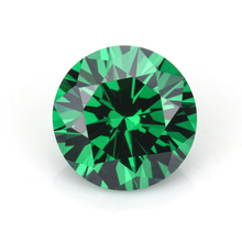 top grade quality synthetic cubic zirconia round cut emerald stone prices