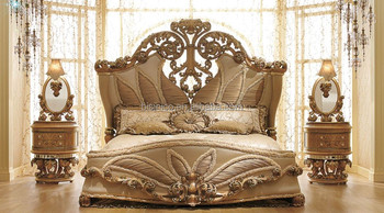Luxurious European Rococo Wooden Bedroom Set/Palace Royal Hand ...