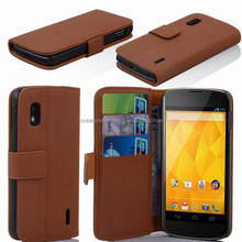 PU+PC Wallet Leather Case for Google LG E960 Nexus 4