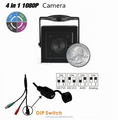 "1/3"" CMOS 2.0MP 1080P 4 in1AHD Pinhole Indooor Security Mini HDIS CCTV Camera"