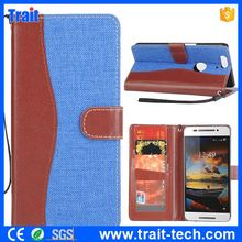 Cowboy Contrast Color Frame Wallet Style Card Holder Stand Flip PU Leather Case for HuaWei Nexus 6P