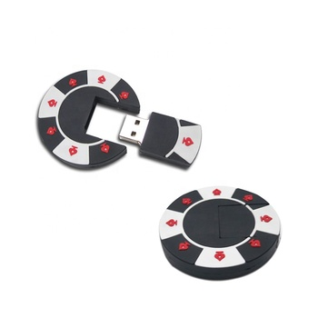 poker chip usb memory drive custom logo vip promotion gift