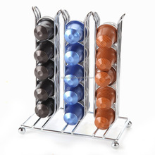 Table Top Coffee Pod Capsules Holder Holds 30 Pods Chrome