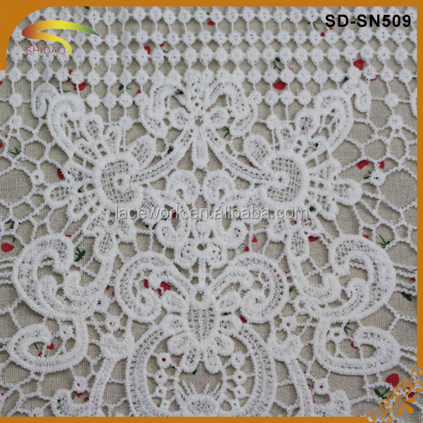 Wholesale African french milky embroidered mesh lace/lace indian white/china fabric market lace dress Dubai