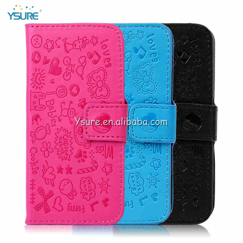2013 newest design book case for apple iphone 4/4s/5/5S