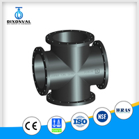 water wastwater industry Ductile Iron Pipe Fittings all flanged cross