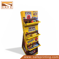 Cardboard Chocolate Pie Corrugated POP Display Shelf