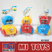 Safe plastic car toy with candy