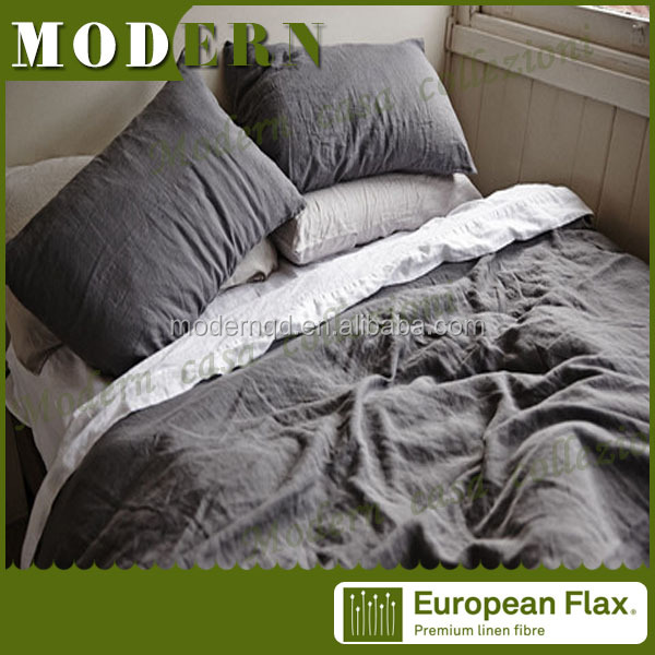china supplier flax linen bedding / bed sheet / hand stitch bed sheet