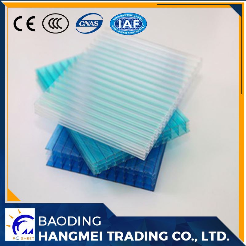 uv coating anti-fog multi-wall polycarbonate hollow sheet for greenhouse