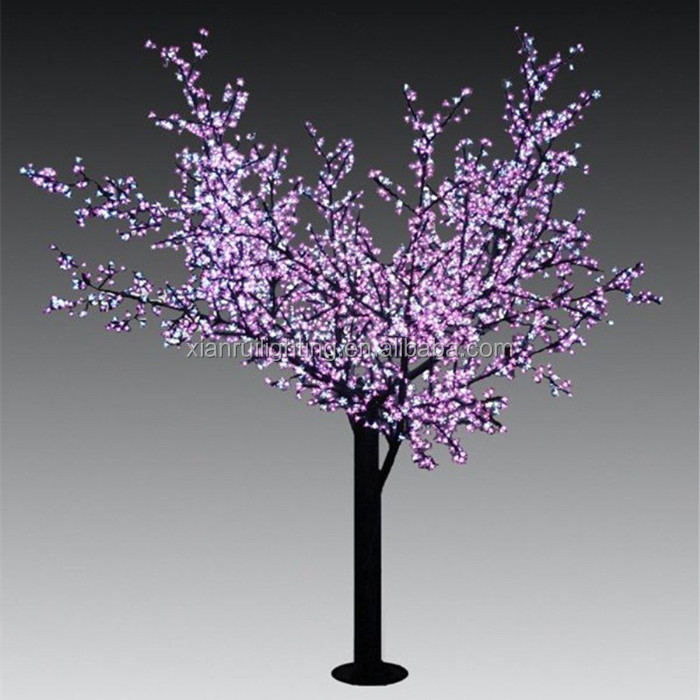 Outdoor wire Christmas decoration led tree cherry blossom 3m