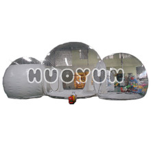 Hot Sale Fashionable Customized Outdoor Three Dome Conjoined Inflatable Tents for Camping or Party with Good Price
