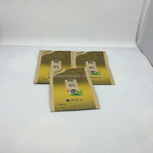 Standing food packaging paper bag with zipper for nutlet