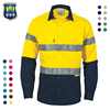 Customized Workwear Two Tone 3M Reflective Safety Work Hi Vis Shirt
