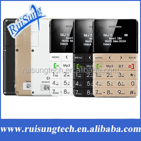AIEK/QMART Q5 M5 Card Mobile Phone 5.5mm Ultra Thin Pocket Mini Phone Quad Band Low Radiation AEKU Q5 Card Cell phone