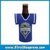 Blue Shirt With Great Variety Of Models Neoprene Beer Bottle Tote