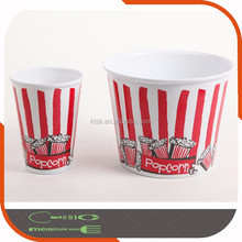 Round Cheap Plastic Popcorn Bowl With Customize Printing