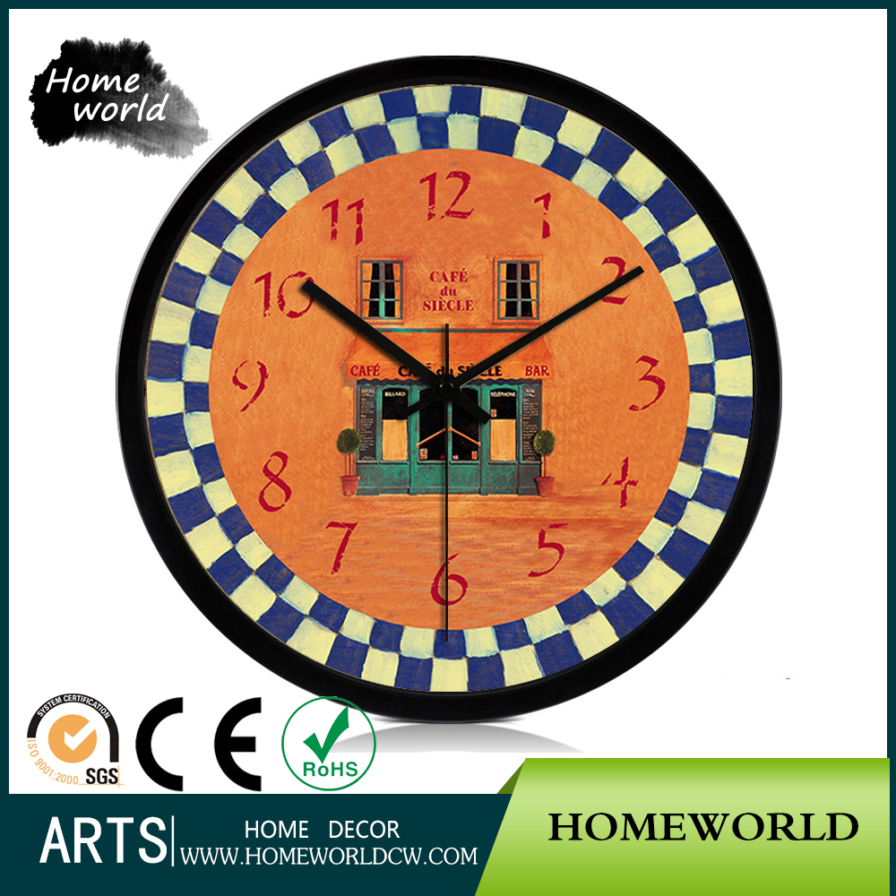 Cafe Bar Design Commercial Outdoor Export Products Wall Mounted Clock