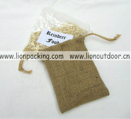 Jute tote bags for boutique classical favour