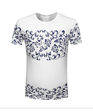 New design short sleeve t shirt mens clothing factories in china custom men t shirts with printing