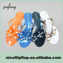 Popular high quality cheap plastic jelly sandals