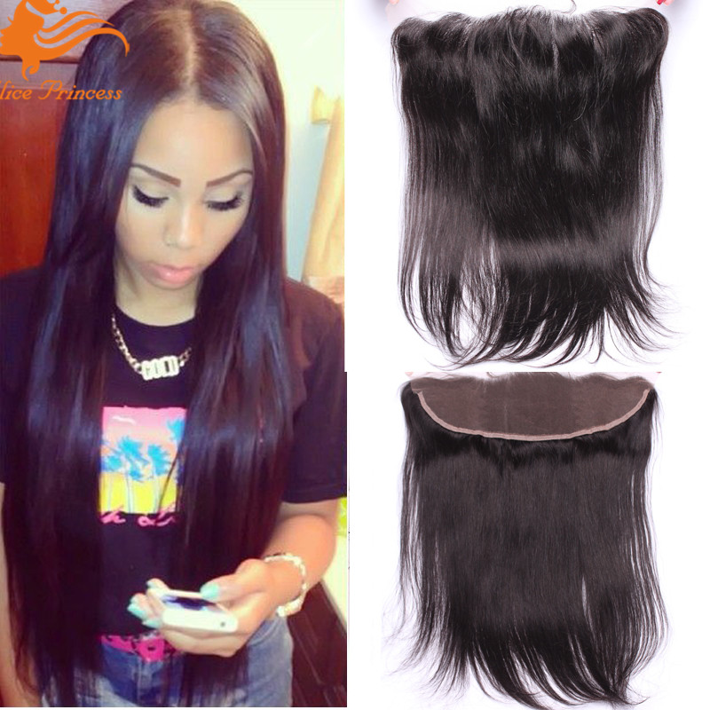 Brazilian Lace Frontal Closure Straight Virgin Human Hair 13x4 Ear To Ear Lace Frontals With Baby Hair Full Frontal Lace Closure