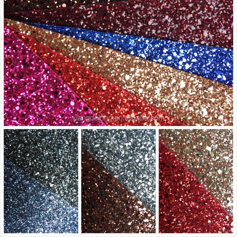 2016 fashional pearly-luster PVC artificial upholstery leather glitter fabric for Christmas