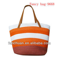 fashion straped wholesale straw beach bags