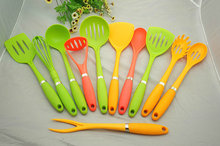 11pcs set nylon kitchenware set, cooking utensils/tools/item/gadget/equipment/appliance/accessory/tools/utensils