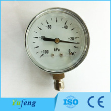 Read Clear pressure gauge with alarm
