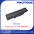Top Rechargeable Laptop Battery Supplier for ASUS K72 11.1V 5.2Ah 58Wh Black