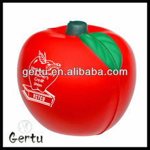 foam gift pu apple shaped stress ball ,antistress ball