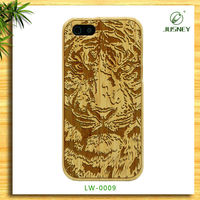 2014 Top sale western cell phone carved wood clear cases for iPhone 5/5s