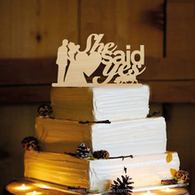 Wood wedding cake topper for cake decoration