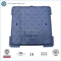 ductile iron square Manhole Cover double seal