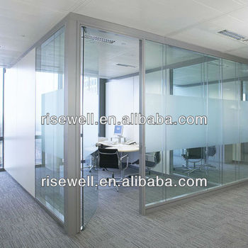 Soundproof used glass office partitions